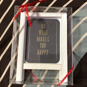 Other - NWT Do What Makes You Happy Wood Frame Decoration